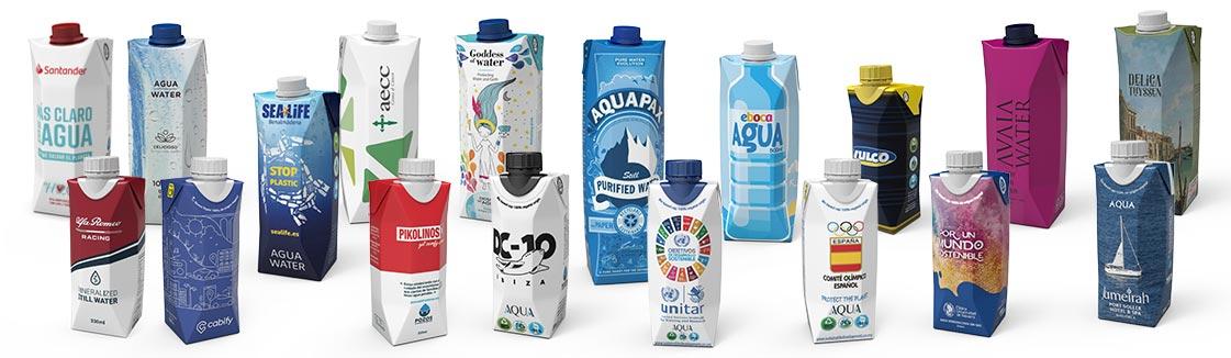 Envases only water para diferentes clientes