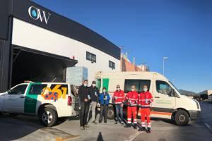 Donativo de Only Water para el 061 en su lucha contra el coronavirus en Malaga